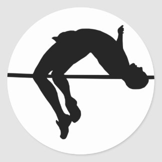 High Jump Classic Round Sticker