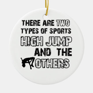 High Jump designs for lovers of the sport Ceramic Ornament