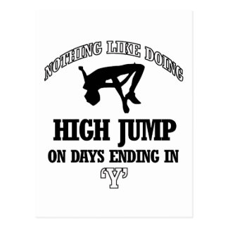 high jump designs postcard