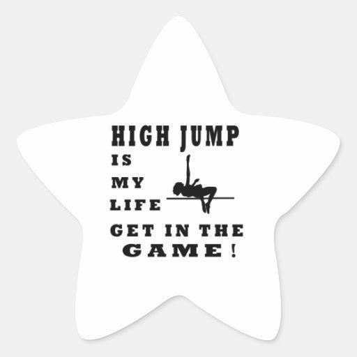 High Jump Is My Life Star Sticker
