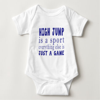 HIGH JUMP JUST A GAME BABY BODYSUIT