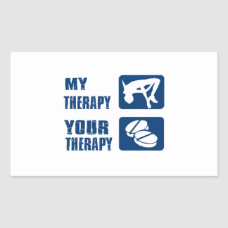 High Jump my therapy Rectangular Sticker