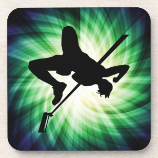 High Jump Silhouette; Cool Beverage Coaster