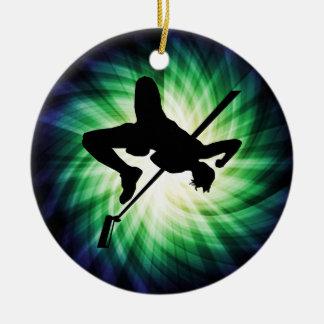 High Jump Silhouette; Cool Ceramic Ornament
