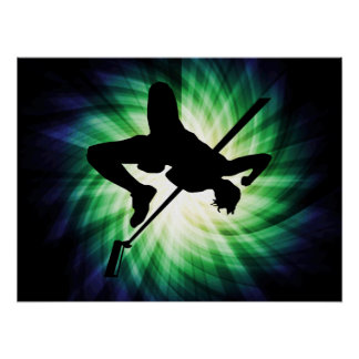High Jump Silhouette; Cool Posters