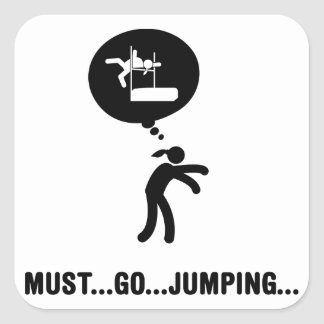 High Jump Square Sticker