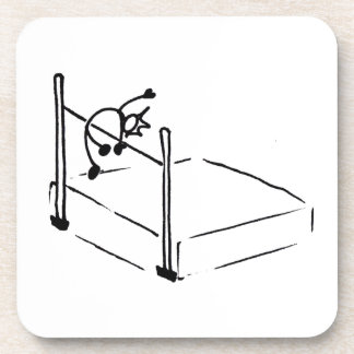 High Jump StickMan Track and Field Drink Coaster