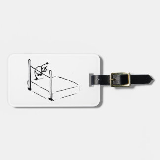 High Jump StickMan Track and Field Bag Tags