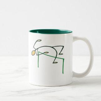 High Jump T-shirts and Gifts. Two-Tone Coffee Mug