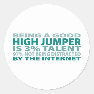 High Jumper 3% Talent Classic Round Sticker