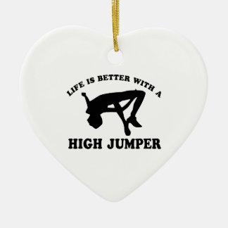 High Jumper Design Ceramic Ornament