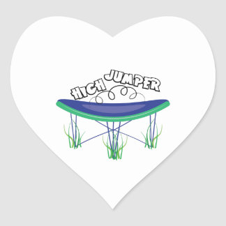 High Jumper Heart Sticker