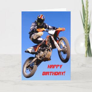 Motocross Birthday Cards Zazzle