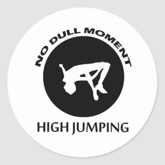 high jumping designs classic round sticker