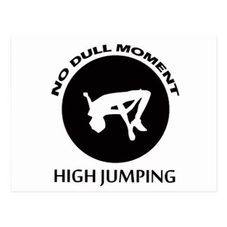 high jumping designs postcard