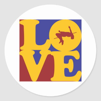 High Jumping Love Classic Round Sticker