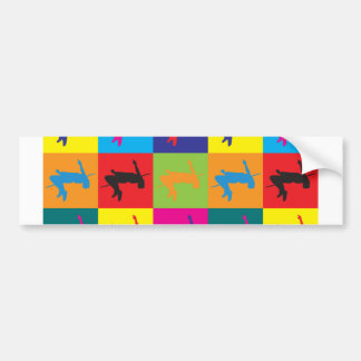 High Jumping Pop Art Bumper Sticker