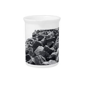 High Key Atlantic Ocean Sea Wall Landscape Drink Pitchers