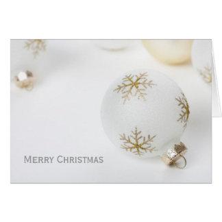 High Key Christmas Greeting Card w/ Ornament