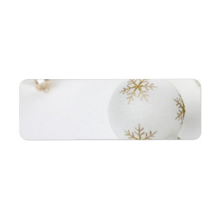 High Key Christmas Ornament Holiday Template Label