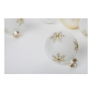 High Key Christmas Ornament Holiday Template Poster