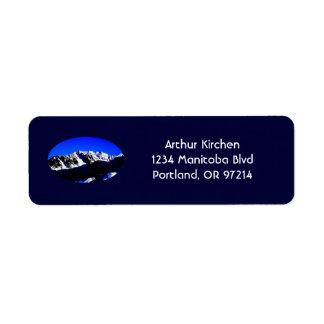 High-Key Mount St. Helens Address Label