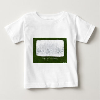 High-key Snowy Trees - Merry Christmas Baby T-Shirt