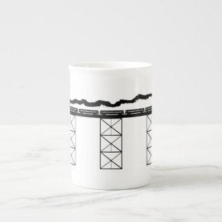 High Level Bridge w/ Crossing Steam Locomotive Tea Cup