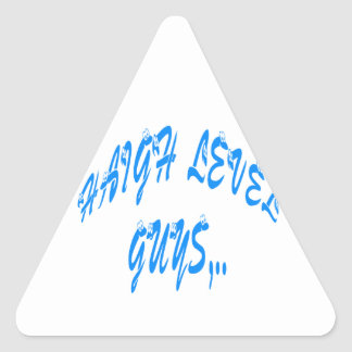 High Level Guy blue Vintage new year Triangle Sticker