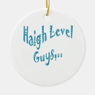 High level Guys Trend Vintage New Year Double-Sided Ceramic Round Christmas Ornament