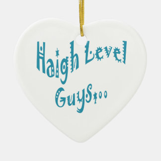 High level Guys Trend Vintage New Year Double-Sided Heart Ceramic Christmas Ornament