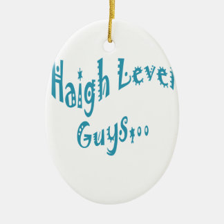 High level Guys Trend Vintage New Year Double-Sided Oval Ceramic Christmas Ornament