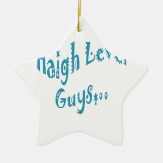 High level Guys Trend Vintage New Year Double-Sided Star Ceramic Christmas Ornament