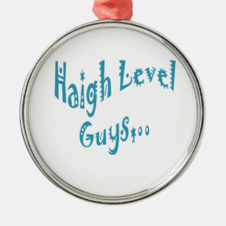 High level Guys Trend Vintage New Year Round Metal Christmas Ornament