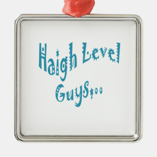 High level Guys Trend Vintage New Year Square Metal Christmas Ornament