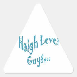 High level Guys Trend Vintage New Year Sticker