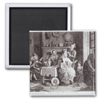 High Life Below Stairs 2 Inch Square Magnet