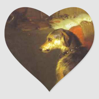 High Life by Edwin Henry Landseer Heart Sticker