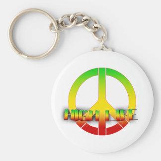 High Life Key-Chain (Rastafarian Love) Basic Round Button Keychain
