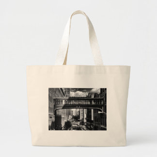 High Line view: National Biscuit Bridge B&W Tote Bag