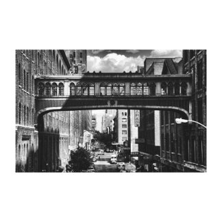 High Line view: National Biscuit Bridge B&W Canvas Print
