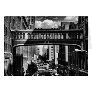 High Line view: National Biscuit Bridge B&W Greeting Card