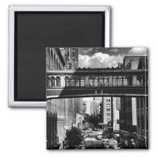 High Line view: National Biscuit Bridge B&W Refrigerator Magnets