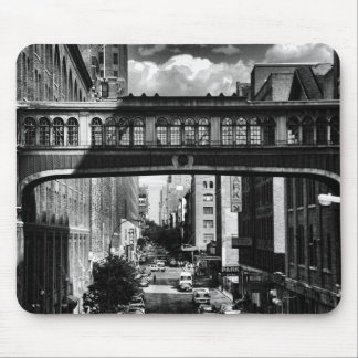 High Line view: National Biscuit Bridge B&W Mouse Pad