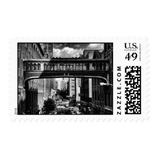 High Line view: National Biscuit Bridge B&W Postage Stamps