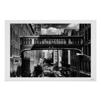 High Line view: National Biscuit Bridge B&W Print