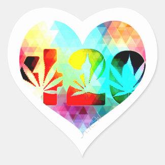 High Love Heart Sticker