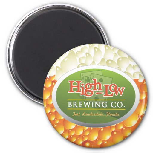 High-Low Brewing Company Fridge Magnets