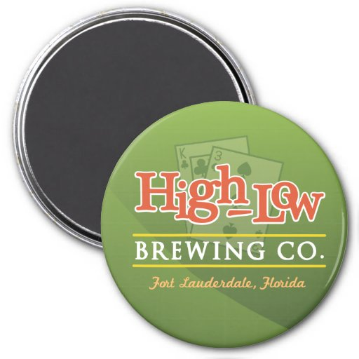 High-Low Brewing Company Refrigerator Magnet