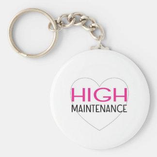 High Maintenance Basic Round Button Keychain